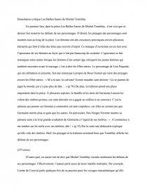 dissertation sur les belles soeurs de michel tremblay
