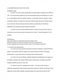 dissertation etats unis superpuissance