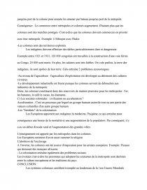 La Colonisation Europeenne Et Le Systeme Colonial Du Milieu Xixe Siecle Dissertation Momo14000 Sur Revolution Industrielle