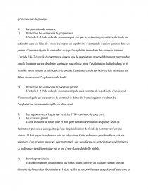 dissertation la location gérance