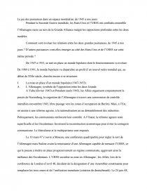 dissertation sur le plan marshall et la bipolarisation du monde