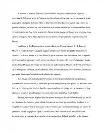 dissertation au bonheur des dames emile zola