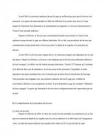 dissertation sur la pacification du divorce