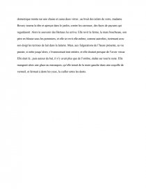 dissertation madame bovary terminale l