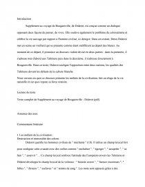 dissertation sur supplément au voyage de bougainville