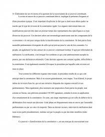 le pouvoir constituant dérivé au sénégal dissertation