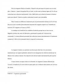 Rapport De Stage Camaieu Memoire Morganeeee60