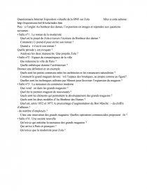 dissertation au bonheur des dames zola