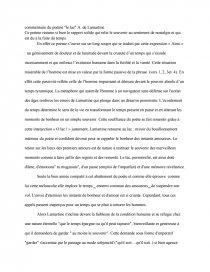 Commentaire Du Poème Le Lac De A De Lamartine Mémoire