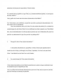 etat fédéral et etat unitaire décentralisé dissertation