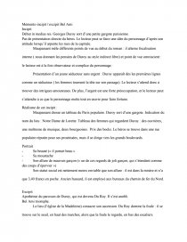 dissertation excipit bel ami