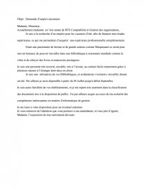 Lettre Motivation Pour Une Bibliothèque Note De Recherches
