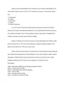 dissertation sur zadig ou la destinée