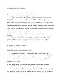 étude Du Poème Lalbatros De Charles Baudelaire