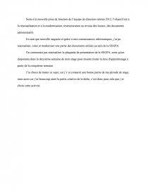 Conclusion Bac Pro Secrétariat Stage Note De Recherches
