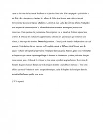 dissertation sur laffaire calas