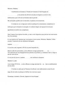 lettre de motivation stage optionnel aide soignante