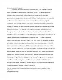 Le Mouvement De La Negritude Recherche Document Elmalickyade Dissertation
