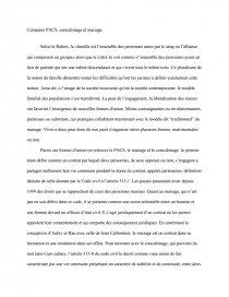 mariage pacs et concubinage dissertation