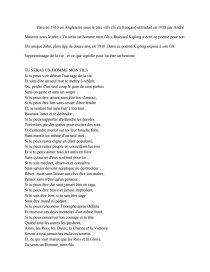Poème Tu Seras Un Homme Mon Fils Sa Préface Note De