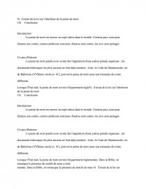 dissertation peine de mort plan