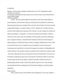 La Negritude Memoire Dissertation