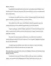 Lettre De Motivation Dut Gea Mémoires Gratuits Couline66