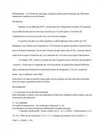 dissertation sur lhumanisme dans gargantua