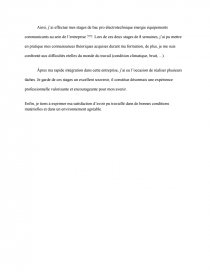 Introduction Remerciement Et Conclusion Rapport De Stage