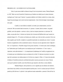 dissertation sur le naturalisme dans thérèse raquin