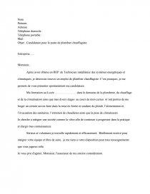 Lettre Motivation Plombier Rapports De Stage Mumu2808
