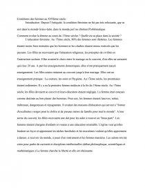 dissertation 17eme siecle