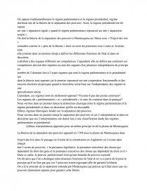 dissertation comparer le régime parlementaire et le régime présidentiel