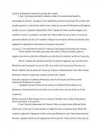 dissertation sur britannicus de racine