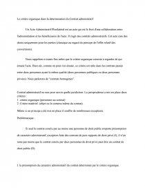 dissertation le critère organique du contrat administratif