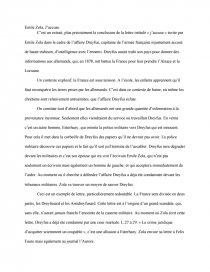 jaccuse zola dissertation