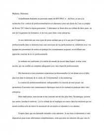Exemple Lettre Motivation Alternance Dissertation
