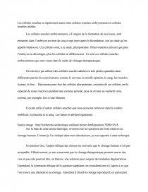 dissertation sur le clonage humain