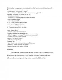 dissertation sur sganarelle