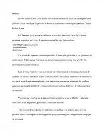 Lettre Motivation Chef De Produit Recherche De Documents