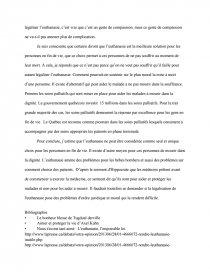 dissertation que pensez vous de leuthanasie