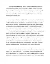 dissertation sur le téléphone portable avantages et inconvénients