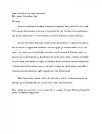 Lettre Motivation Note De Recherches Chouchoute77