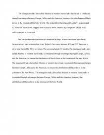 dissertation commerce triangulaire