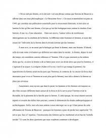 De Simone De Beauvoir On Ne Naît Pas Femme On Le