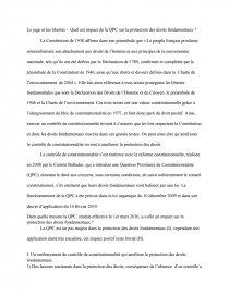 qpc et protection des droits fondamentaux dissertation