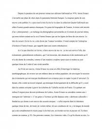 dissertation la place annie ernaux