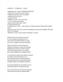 Etude Du Poème Vendémiaire De Guillaume Apollinaire Compte