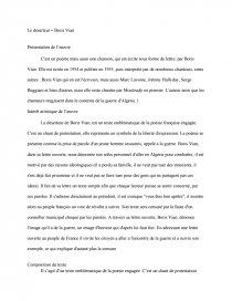Le Deserteur Boris Vian Commentaires Composés Berenice17b