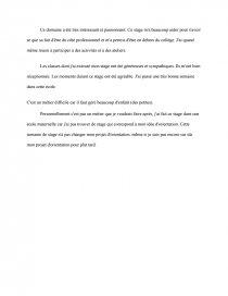 Rapport De Stage Ecole Maternelle Documents Gratuits